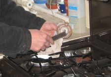 Repairs to a gas cooker hob